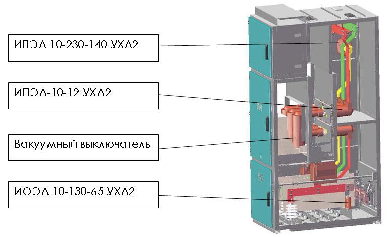 Пример использования изоляторов 10 кВ